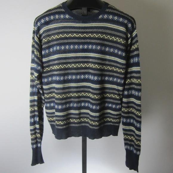 795d7e42 Vintage Polo Ralph Lauren Linen Mens Sweater Navy